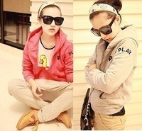 Wholesale fashion coats Fashion 2012  letter new arrival    jacket warm sweater jacket A005