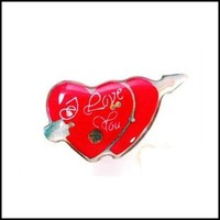 Lot of 25pcs Pin Brooch Luminous Angel Heart Love Arrow LED Party Valentine