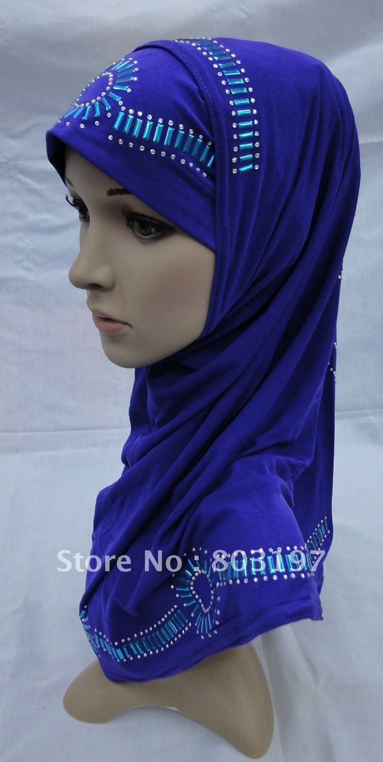 CV120801 Two Pieces Design Muslim Hijabs; Islamic Lady Shawls ; Good Quality Head Cover; Islamic Scarves;Free Shipping(China (Mainland))