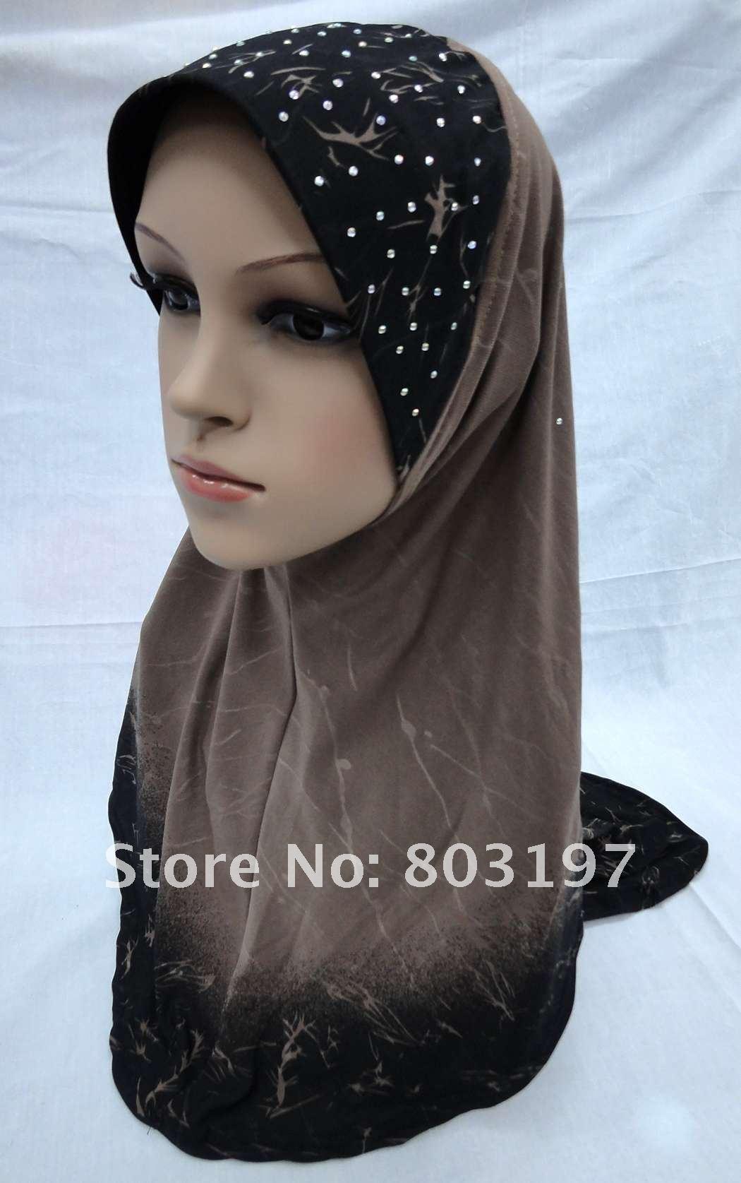 CV120803 Muslim Hijabs; Islamic Lady Shawls ; Good Quality Head Cover ...