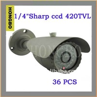 8MM LENS, weathproof IR security cctv camera with metal bracket, IP 66, 35M IR night vision distance