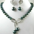 Rare Exquisite Freshwater pearl necklace Earrings sets