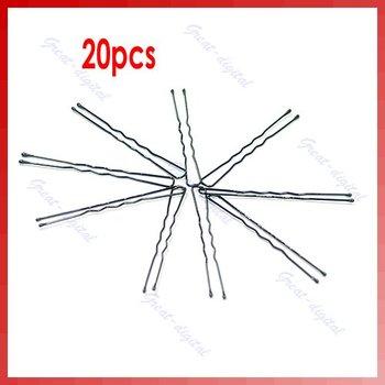 20pcs U-shaped 50mm Hair Pin Clip Hair Grips Black New