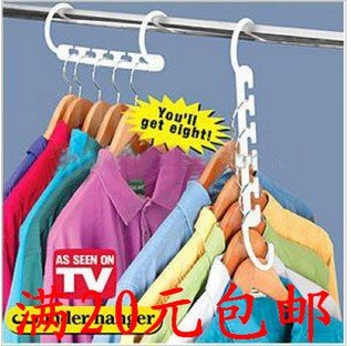 Creativity Home Storage Organization Hooks Rails magic clothes hanger to save closet space 4 times Easy to take closets 20/lot(China (Mainland))