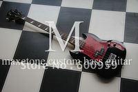 Maxetone Gloss Black 4 string electric Bass Guitar #899