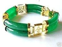 Charm Genuine Green Jade Bracelet 2 Row