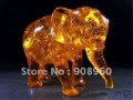 new arrive Rare amber(copy) carve vivid elephant statue fashion jewelry