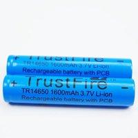 2PCs/Lot Trustfire 14650  rechargeable Battery 3.7V 1600mAh Li-ion Camera Flashlight Torch Battery