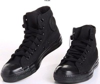 2011 New ARRIVING full black high canvas shoes men / lady fashion canvas shoes