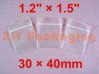 "GREAT BULK PRICE 1000 Thick Ziplock Reclosable Grip Seal Zipper Bags 1.2"" x 1.5""_30 x 40mm FREE Shipping"