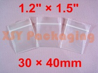 "GREAT BULK PRICE 1000 Thick Ziplock Reclosable Grip Seal Zipper Bags 1.2"" x 1.5""_30 x 40mm FREE Shipping"