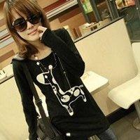 2012 fashion design casual Tshirt Sweet shirt wholesale A03229