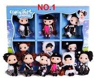 fashional ddung  doll set,  6pcs/set,ddung doll, stuffed  rag doll,wedding gift & birthday gift ,size:12cm