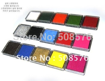 Free Shipping/15 colors for choose/creative 15 colors Ink pad/Ink stamp pad/Inkpad set for DIY funny work/Wholesale