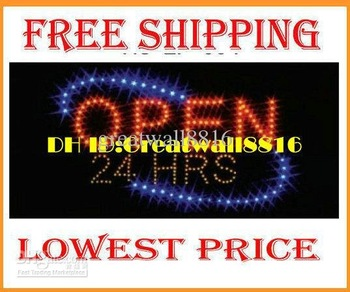DIY YOUR Led open Neon sign light,RED&BLUE led lighting,For bar,coffee shop,game room,XC-ZP-007