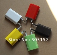 EU Color New Cute Mini USB Wall Charger Adapter Euro Plug For Apple iPhone 3G 3GS 4G iPod Touch iPod nano MP3 DHL Free shipping