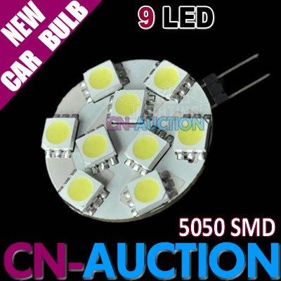 FREE SHIPPING!!! G4 Base 5050 SMD 9 LED Car Bulb Marine Camper Car Light Lamp 12V 20pcs/lot (CN-LCL104) [Cn-Auction Lighting](China (Mainland))