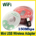 New 150Mbps Mini USB WiFi Wireless Adapter 150M Network LAN Card 802.11ngb Free shipping