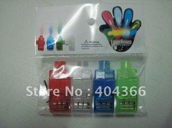 5000 pcs/lot (1250 sets) Colorful Finger Lamp Laser Led Finger Lights Halloween Light Cristmas Festival Gift (OPP bag)