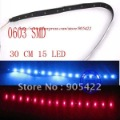 5pcs/lot  0603 SMD 30cm 15 LED waterproof LED strip light MC011p free shipping
