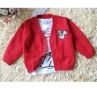 In stock -- Baby girls' Sweater kids children mickey cardigan sweater coat Girls boys outwear 1227B clp