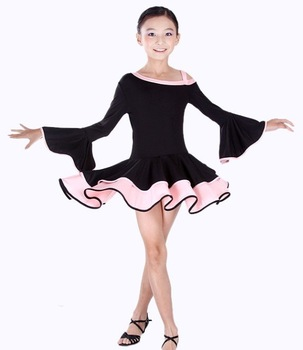 luxury baby Latin dress6~13T fashion child stage wear kid performance costume infant dance skirt noble girl dancewear