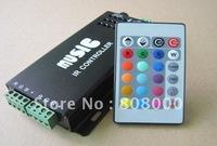 Audio & Music IR controller for led strip DC12v 10A 120w 2 ports (R G B +)