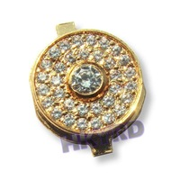 Gold Diamond Crystal Home Button Keypad For iPhone 4G D0080