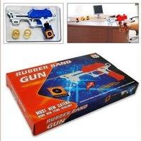 WHOLE SALES 144PCS/LOT RUBBER BAND GUN, OFFICE TOY GUN