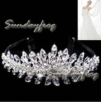 Fast Free Shipping! Gorgeous Alloy With Austria Rhinestones Wedding Bridal Tiara/ Combs/ Headpiece -JVT27
