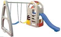 2011 kids indoor plastic slide with swings / indoor playground equipment