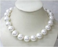 wholesale --------Gorgeous 18mm AAA white shell pearl necklace