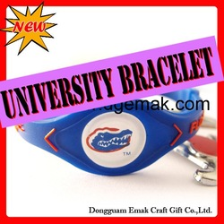 2012 Fashion siliconer college team bands(China (Mainland))