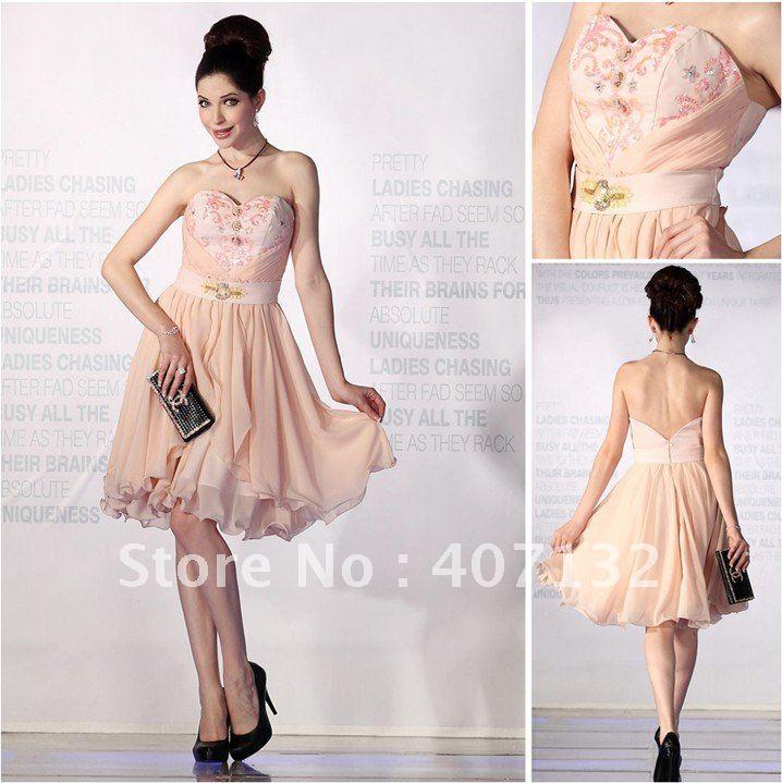 Peach Cocktail Dresses