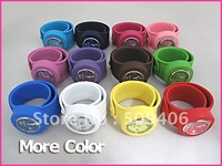 Colorful silicone odm slap watch