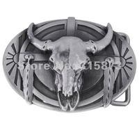 "Мужской ремень Belt buckle western series ""cattle skull. Western flower"" qualities of models"