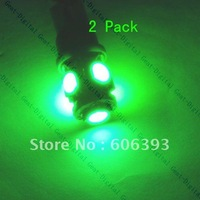 2 x 194 T10 Car Green SMD Wedge 5 LED Bulb Lamp Light