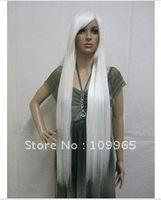 Japanese Anime Long White Straight Cosplay Hair Wig   +cap gift