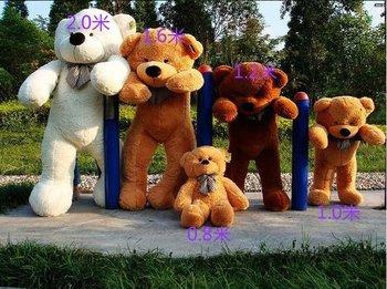 "63"" Giant Huge milky plush teddy bears Holiday Gifts Christmas Stuffed Plush Toys"