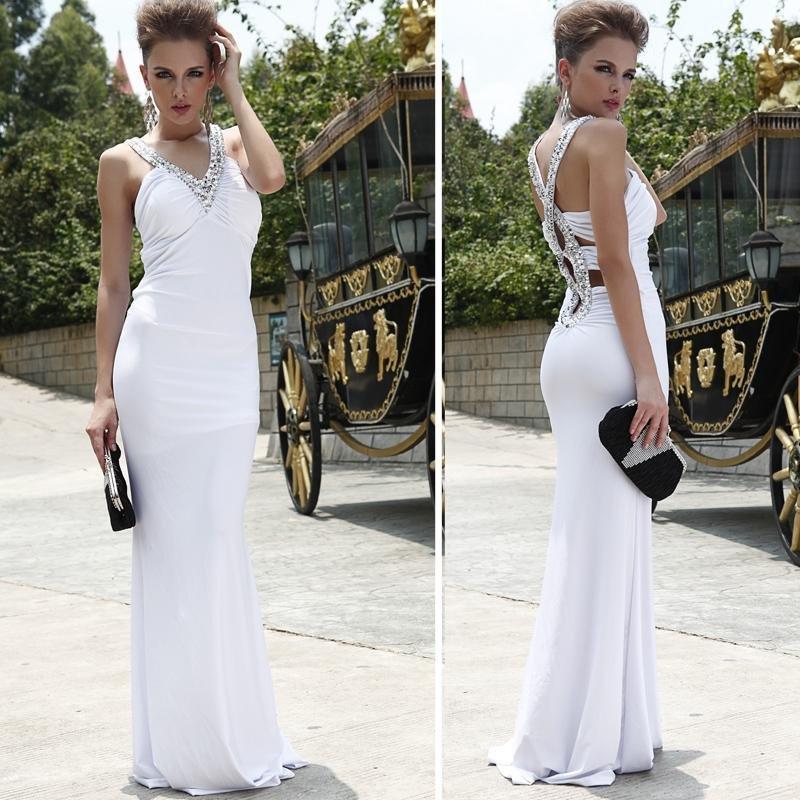Elegant Evening Gowns Dress Taffeta Fabric Black/White/Red/Blue Size:2/4/6/8 Free Shipping Wholesale&Retail Drop Shipping(China (Mainland))
