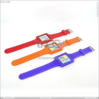 New Watch Style Silicone Case for iPod Nano 6 P-iPODNANO6SC002