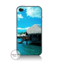 Newest PC back cover case for iphone 4 water house+wholesale and retail+fast shipping