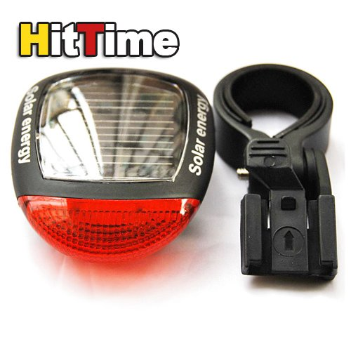 20Pcs/lot Solar Power Bike Bicycle Rear Tail Red LED Light Lamp [2149|01|20](China (Mainland))