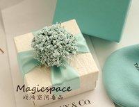 Free Shipping 30 pcs/lot Wedding Favors Candy Box Gift Green Satin Ribbon Flowers Best Selling Unique Design Wedding Supplies xa