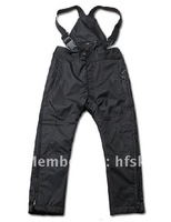 Winter ski pant for kids, banded outdoor trousers for boys and girls, polyester PU coating waterproof and windbreak(C429)