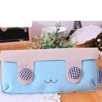 Hot selling velvet double button rabbit Pencil bag Pencil Case Store Bag Cosmetic Bag coin case free shipping