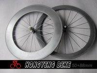 hot sale !! carbon road wheels /50+88mm clincher 3k matte finish