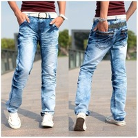 Мужские джинсы new mens pencil jeans cotton fashion skinny pencil trousers jeans for men