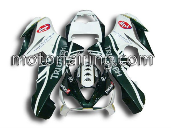 ABS Plastic Motorcycle Fairing body kits bodywork for triumph 675 2006-2010 white/green(China (Mainland))