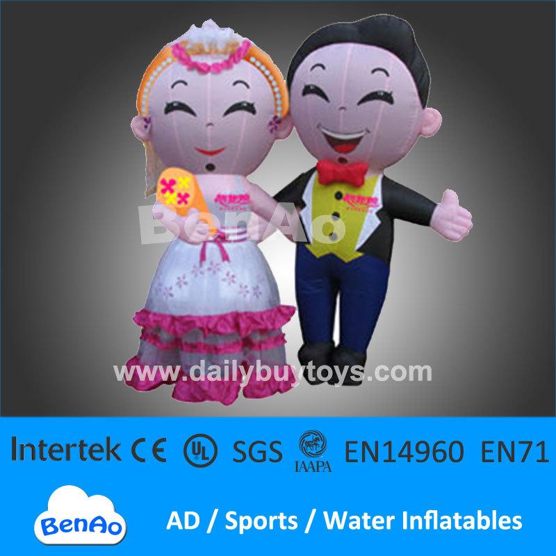 DMC08 Bride Groom inflatable Moving Cartoon air fan wedding decoration